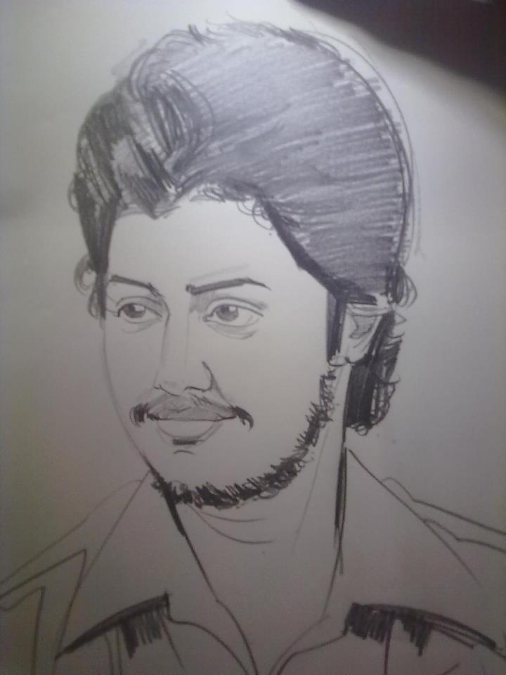 Pencil sketch of Dr Maharaja SivaSubramanian N, Blogger, Coach, Consultant, Speaker, Trainer from Chennai, India.
