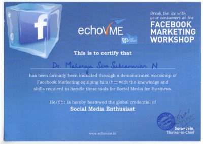 Social Media Enthusiast, Facebook workshop from Echovme.
