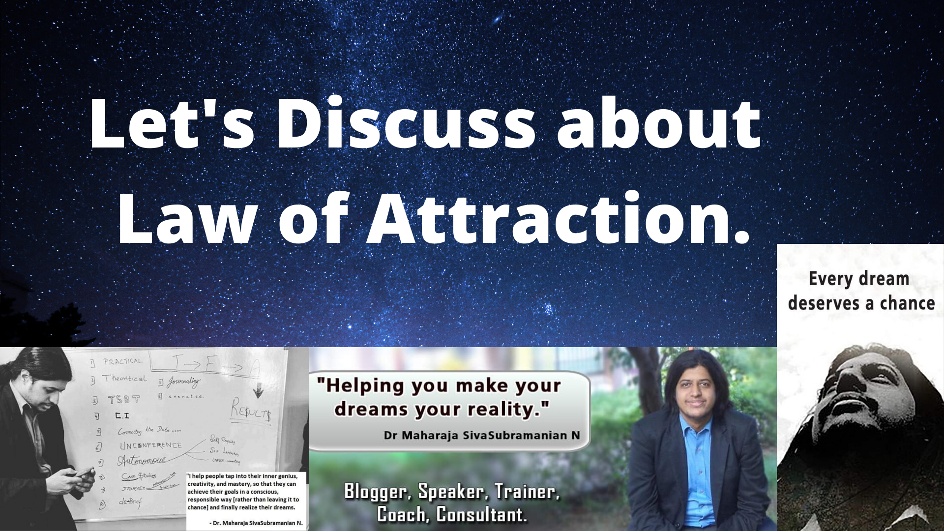 Law of Attraction. Let's discuss about Law of Attraction.