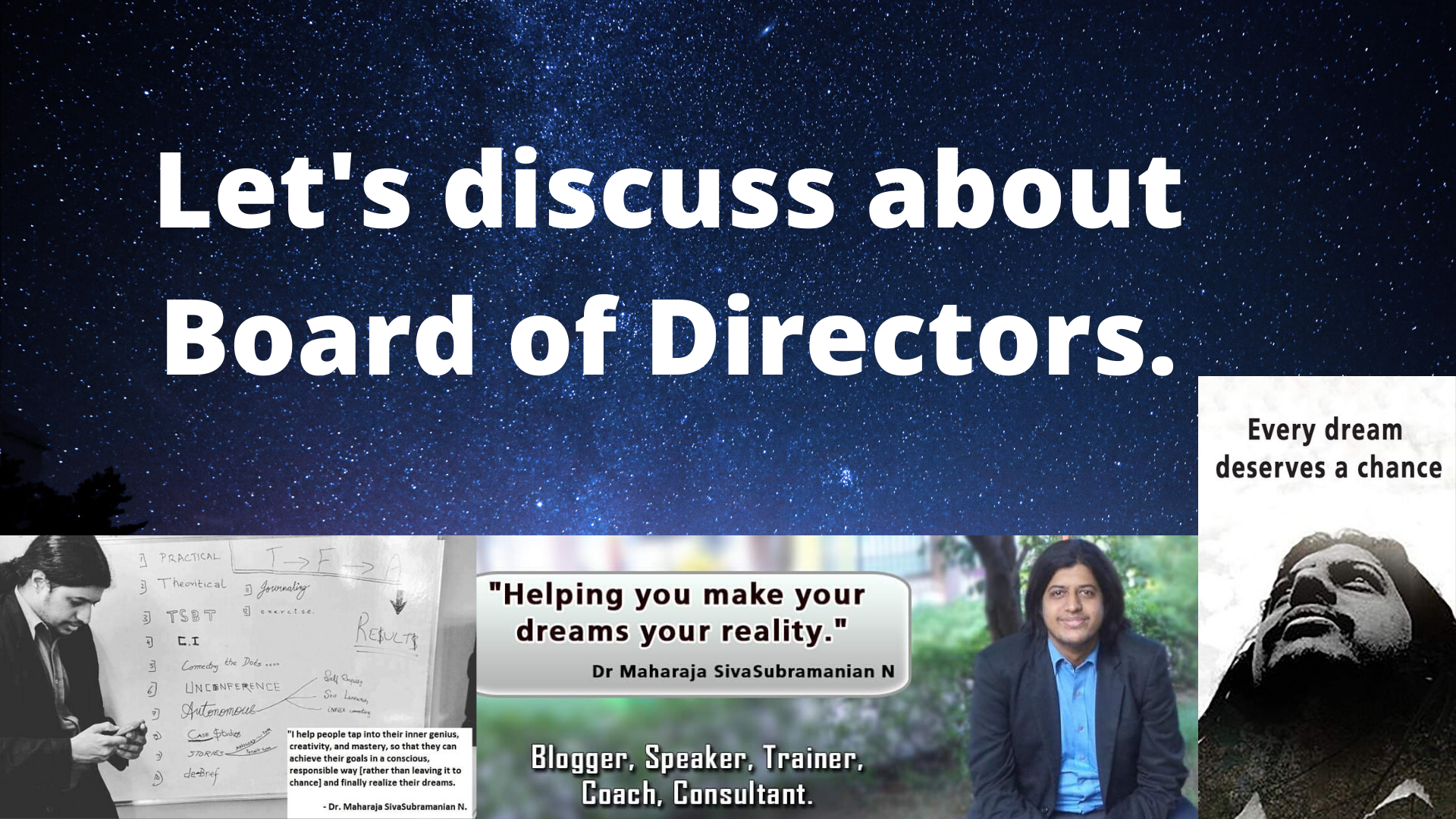 Let's discuss about Board of Directors.