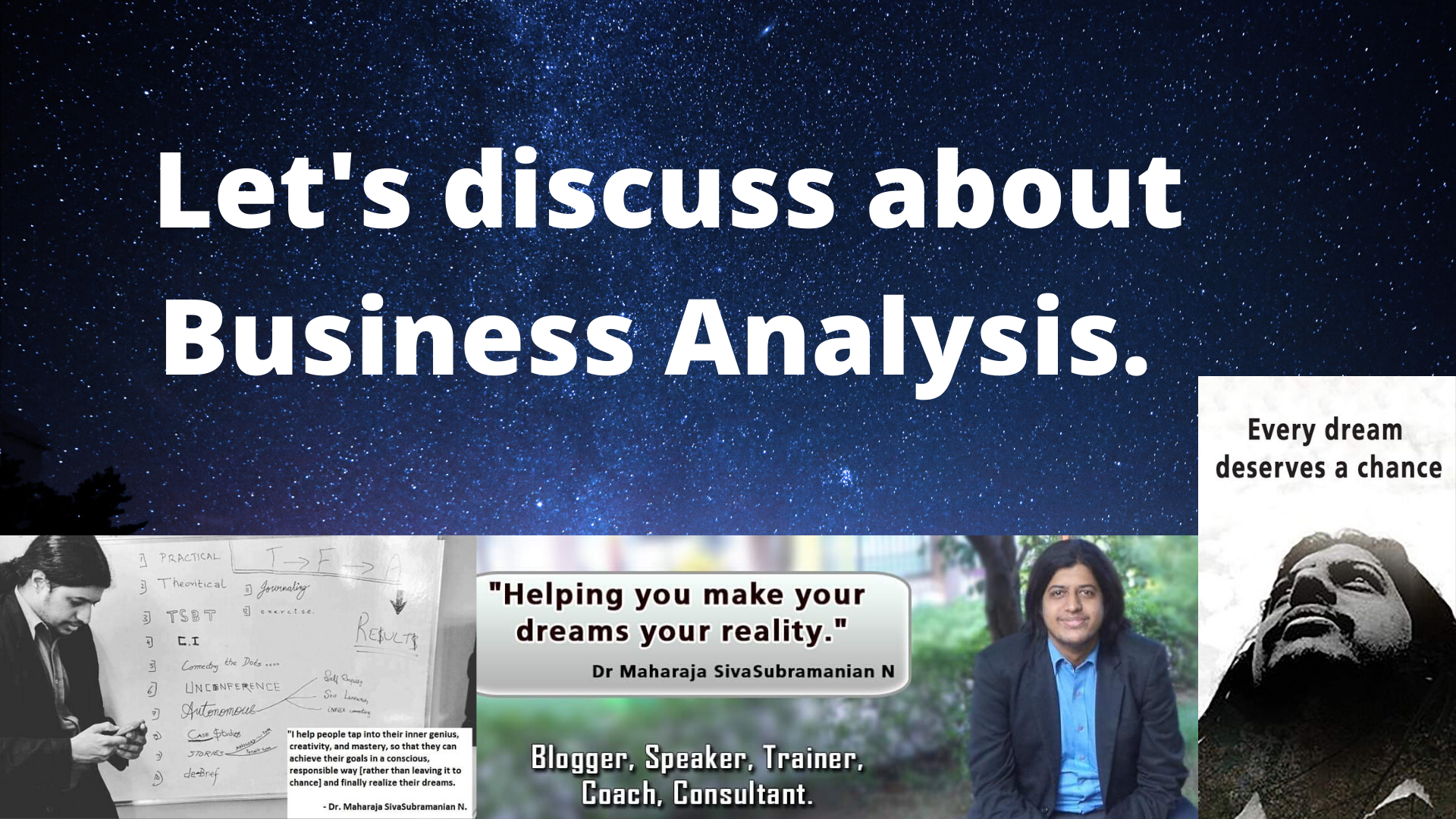 Let's discuss about Business Analysis.