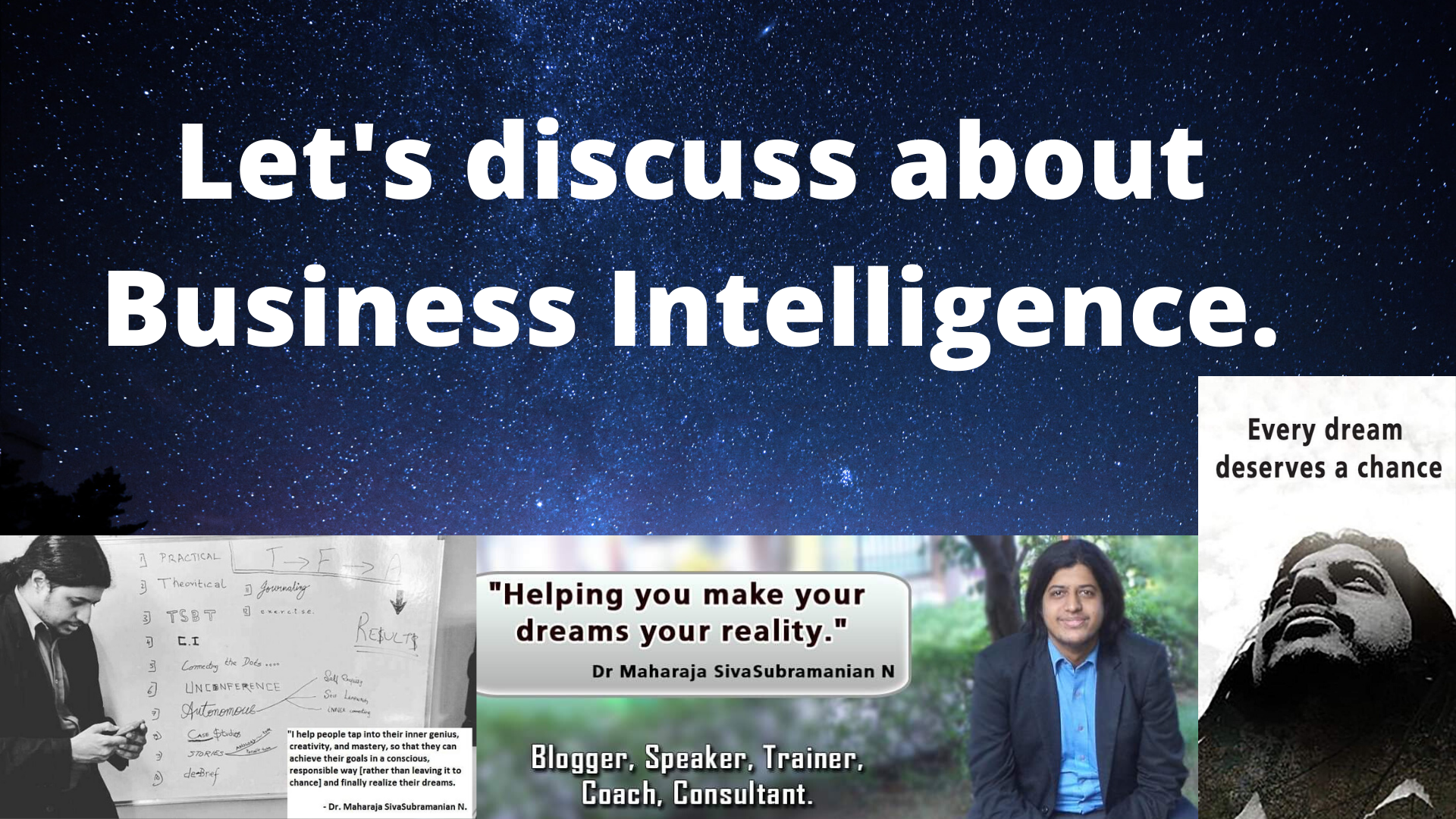 Business Intelligence. Let's discuss about Business Intelligence.