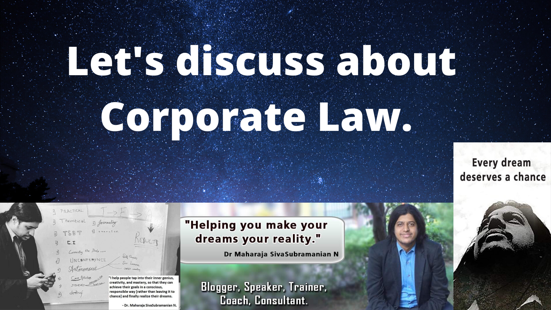 Let's discuss about Corporate Law.