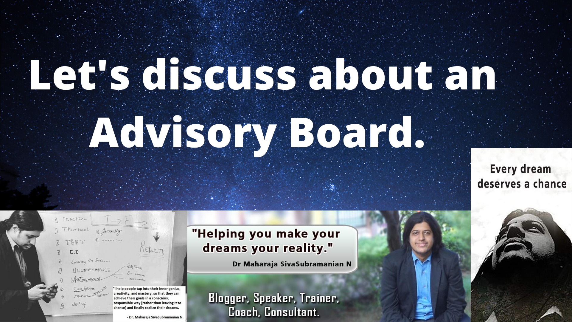 Advisory Board. Let's discuss about an Advisory Board.